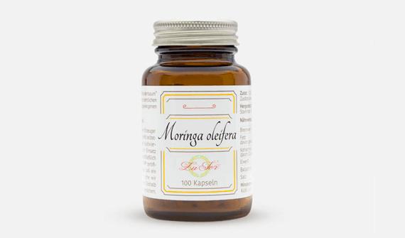 Produktdesign für die Moringa oleifera Kapseln